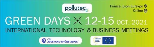 Al via i Green Days al Pollutec di Lione - partecipazione pugliese promossa da Unioncamere Puglia/EEN