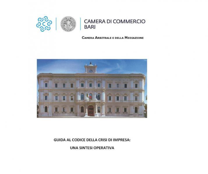 Nuovo codice della crisi di impresa: una guida pratica della Camera di Commercio di Bari