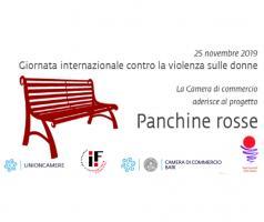 Comitato Imprenditoria Femminile - progetto 'Panchine rosse' contro la violenza sulle donne