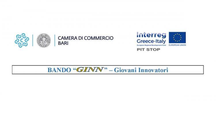 Bando GINN - Giovani Innovatori -- Progetto PIT STOP - INTERREG V-A Greece-Italy 2014-2020