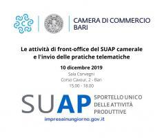 Le attività di front-office del SUAP camerale e l'invio delle pratiche telematiche - Incontro