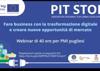 INTERREG PIT-STOP -  percorso di formazione specialistico di 40 ore destinato alle PMI pugliesi