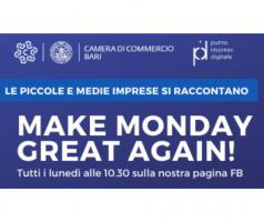 Il Punto Impresa Digitale della Camera di Commercio di Bari lancia l'iniziativa 'Make Monday Great Again'