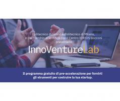 InnoVentureLab: un programma gratuito di pre-accelerazione online aperto a start-up di tutti i settori