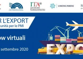 Patto per l'export: 8.a tappa virtuale domani per Puglia e Basilicata, dalle 16,00