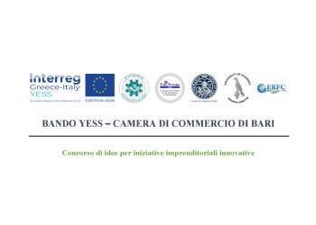 BANDO YESS – CAMERA DI COMMERCIO DI BARI - Concorso di idee per iniziative imprenditoriali innovative