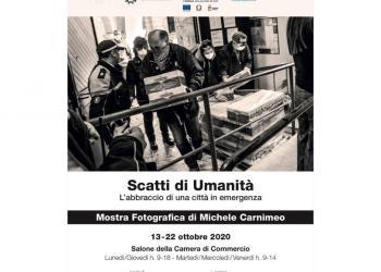 Inaugurata questa mattina nel salone della Camera di Commercio di Bari la mostra fotografica: 'Scatti di umanità. L'abbraccio di una città in emergenza'