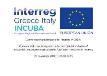 INCUBA: meeting conclusivo - Prospettive future per gli incubatori di imprese