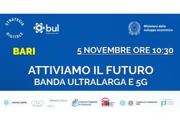 Banda Ultralarga e 5G - Incontro on line fra imprese ed istituzioni il 5 novembre dalle 10,30