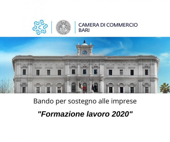 Bando 'FORMAZIONE LAVORO 2020'