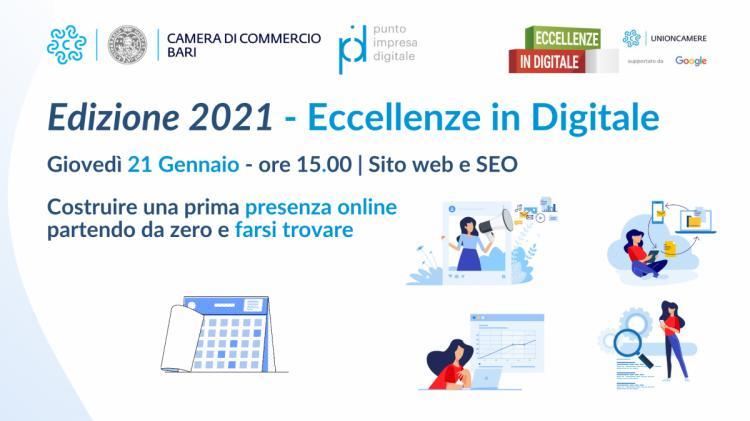Eccellenze in Digitale edizione 2021 - Nuovo ciclo di seminari riparte da giovedì 21 Gennaio