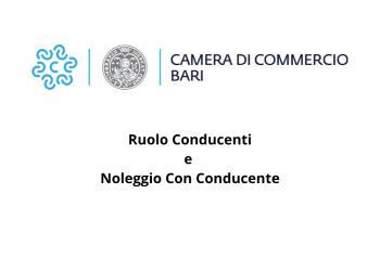 PRESENTAZIONE DOMANDE PER AMMISSIONE ESAMI NEL RUOLO CONDUCENTI E NOLEGGIO CON CONDUCENTE