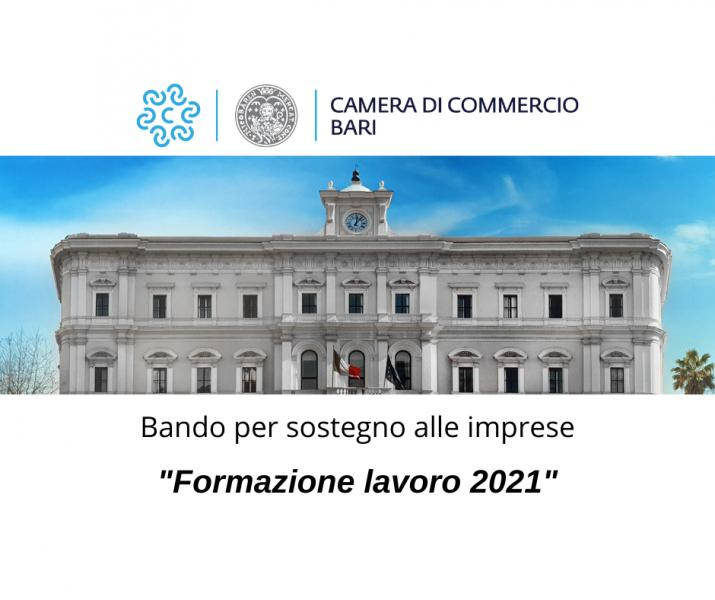 BANDO 'FORMAZIONE LAVORO 2021'