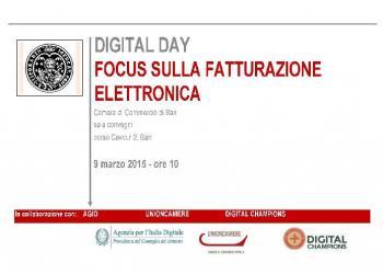 DIGITAL DAY - FOCUS SULLA FATTURAZIONE ELETTRONICA