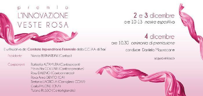 """Premio """"L'innovazione veste  rosa"""" nell'ambito di  """"Donna Crea impresa"""""""